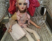 Antique boudoir doll, very cute face, pretty quirky and unique, needs some clothes and minor repair but very different
