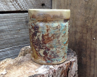 Experimental mugs and cups: turquoise drawing cup by Joel Patton