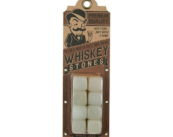 White Jade Whiskey Stones - Keeps your drink cold or hot - by Trixie & Milo - Barware/Bar Accessories/Birthday Gift