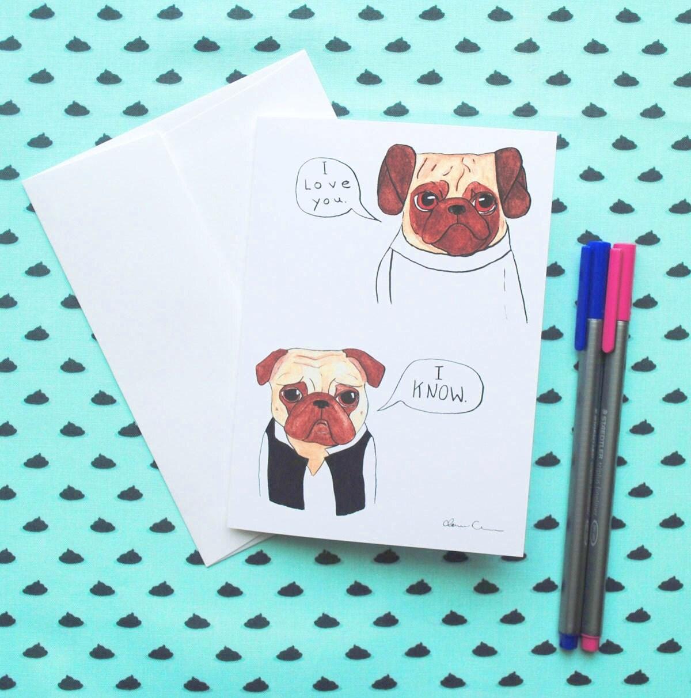 Pug anniversary card – Printable Anniversary Cards for Him