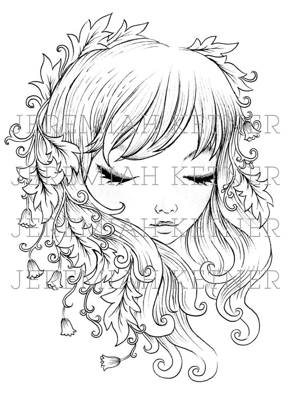 Lush Coloring Page