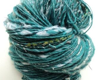 Mountain Top, Hand Spun, Handspun, Thick and Thin, Art Yarn, Large Skein