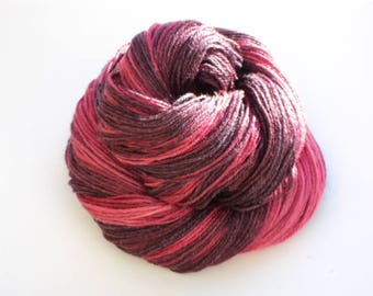 Pink Toes, Hand Dyed, Hand Painted, Fingering, Sock, Yarn, Pink, Purple