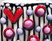 Love Square --Handmade Lampwork Bead