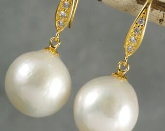 FINAL SALE - White Kasumi Like Pearl Drop Earrings