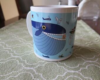 Vintage TAYLOR & NG Whopper Whale Coffee Cup Mug Japan 1981
