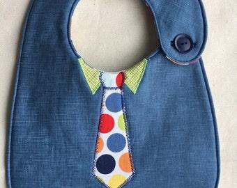 Little Man - Polka Dot Necktie Infant Bib