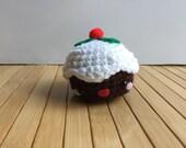 SALE - Small Christmas Pudding - Amigurumi Dessert Doll or Ornament