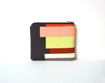 Coin Purse Zipper Pouch Women's Wallet with Front Snap Pocket