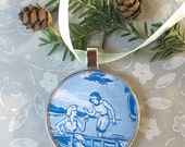 Nancy Drew Ornament  50mm  Handcrafted for Holiday Gift for your favorite Girl Detective Tree Trimmer