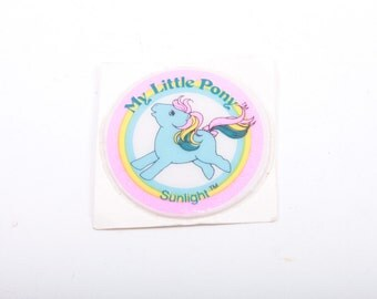 My Little Pony, Vintage, Puffy Sticker, Sunlight, Accessory, Unused, Round Sticker, Came with Ponies ~ The Pink Room ~ 161122