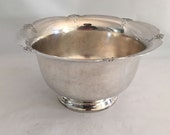 Simply Elegant Silver Flower Bowl, American Made W.M. Rogers, Perfect for Entertaining at the Holidays