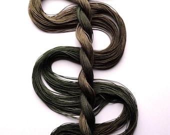 "Size 20 ""Adventurer"" hand dyed thread 6 cord cordonnet tatting crochet cotton"