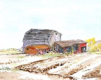 Watercolor painting - 'Just Before Spring' OOAK