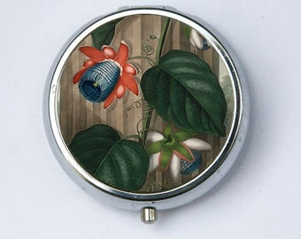 The Winged Passion Flower Pill Case pillbox holder botanical