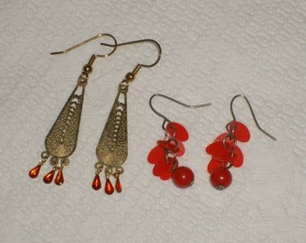 Vintage earrings       (1970s) two pair for a low  price