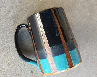 Midnight Sky mug, coffee mug, tea cup, handmade pottery mug
