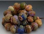 SPRING SALE Naos Glass Roman Gardens Mega Set 30 beads Made To Order Handmade Lampwork Beads SRA Cobalt Orchid Lavender Teal Rust