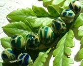 SRA Lampwork Beads Handmade by Catalinaglass Reptile Scales
