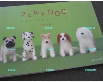 Japanese Craft Pattern Book Tiny Needle Felted Dogs Pooches