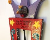 Happy Bird Ceramic and Wood Wall Art