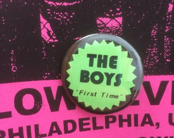 "The Boys 1.25"" pinback button First Time punk powerpop"