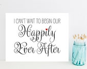 I Can't Wait to Begin Our Happily Ever After - Card for Groom - Card for Bride - Wedding Cards - Wedding Card - Wedding Day Cards - Weddings
