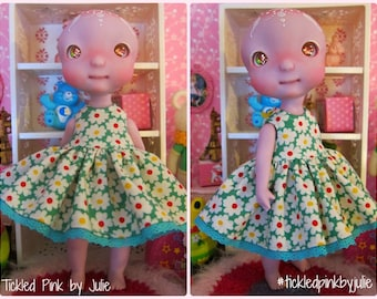 Cerise Tiny BJD Babydoll Dress by Tickled Pink by Julie