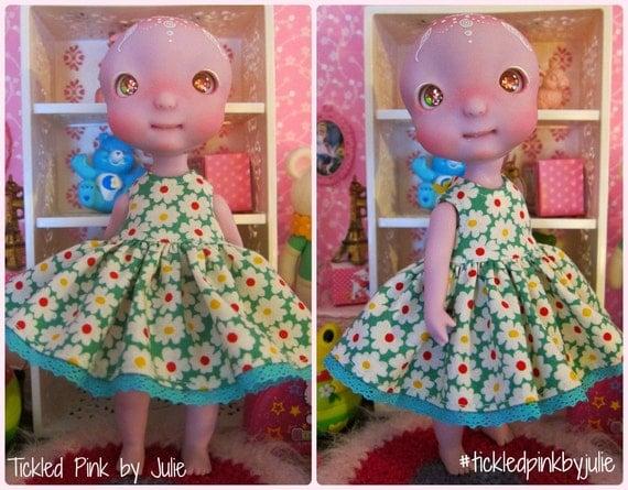 Cerise Tiny BJD Babydoll Dress by Tickled Pink by Julie