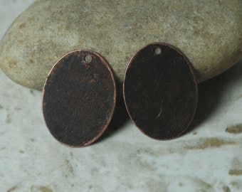 Antique copper oval drop dangle size 20x15mm, 4 pcs (item ID YWXW02648ACD)