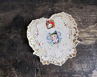 Large Vintage Valentine's Day Card