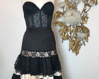 Fall sale 1950s crinoline black crinoline lace crinoline size medium vintage crinoline 1950s petticoat vintage petticoat