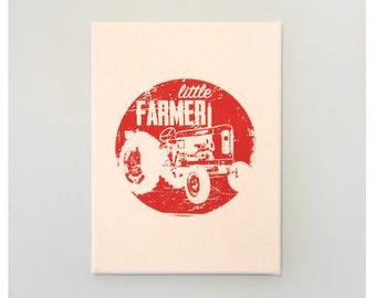 Little Farmer Print 9 x 12 inches Screenprint on Canvas Wall Art