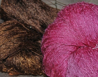 Thai Silk yarn Natural Stick Lac and Ebony dye