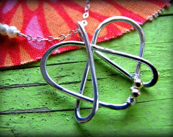 Graduation Celtic Sister Pendant Necklace - Tattoo Design Symbol Large Heart Trilogy - Sterling Silver - Gift Sister Best Friends College