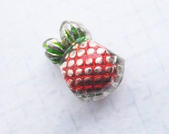Pineapple fruit Large hole Slider Bead x 1