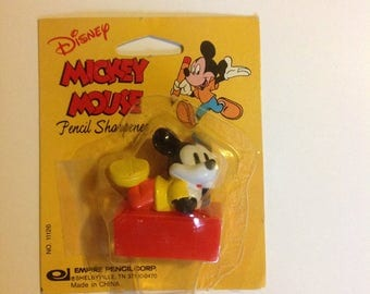 Vintage Mickey Mouse Minitures Pencil Sharpener Disney