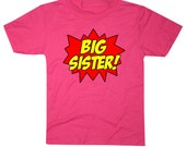 Superhero Big Sister Shirt Comic Book Style Awesome Big Sister T-Shirt