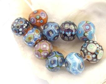 10 Bohemia Beads Handmade Lampwork