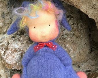 Fairywooldolls Original Flummie Hand made coth cashmere  doll