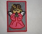 Girl angel note holder