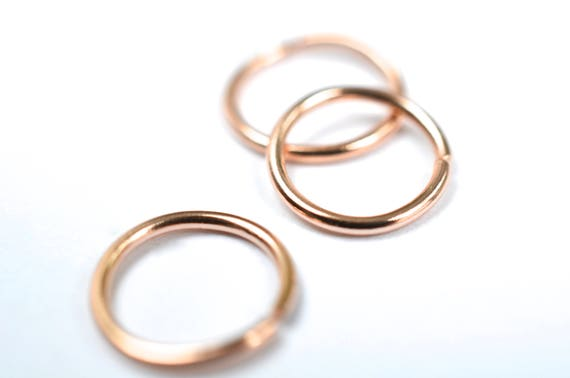 14K rose gold hoop piercing for cartilage piercing nose piercing tragus piercing multiple piercing endless hoop nickel free sensitive ears