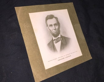 1901 Abraham Lincoln Small Size Print