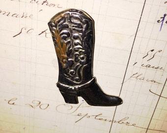 Vintage Cowboy Boot Brooch