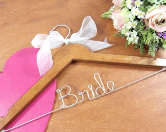 Handmade Hangers - Coat Hangers - Custom Made Hanger - Brides Hanger - Engagement Gift - Keepsake - Personalized Gift - Mrs Hanger - Hangar