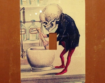 Funny Bones -- Vintage Skeleton Light Switch Cover -- Oversized (Multiple Styles)