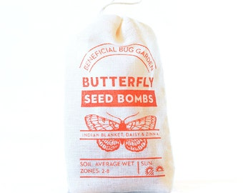Butterfly Seed Bombs Flowers - beneficial bugs and pollinators