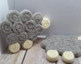 Sheep Mug Rug (coaster)