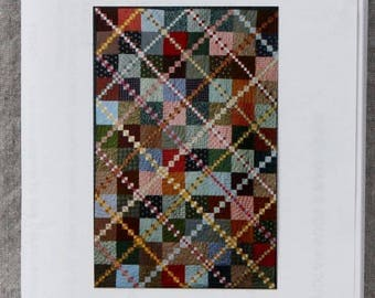 Quilt Pattern - Hired Man's Four Patch by JoAnn Belling