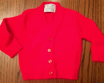 60s Baby Cardigan 9/12 Months